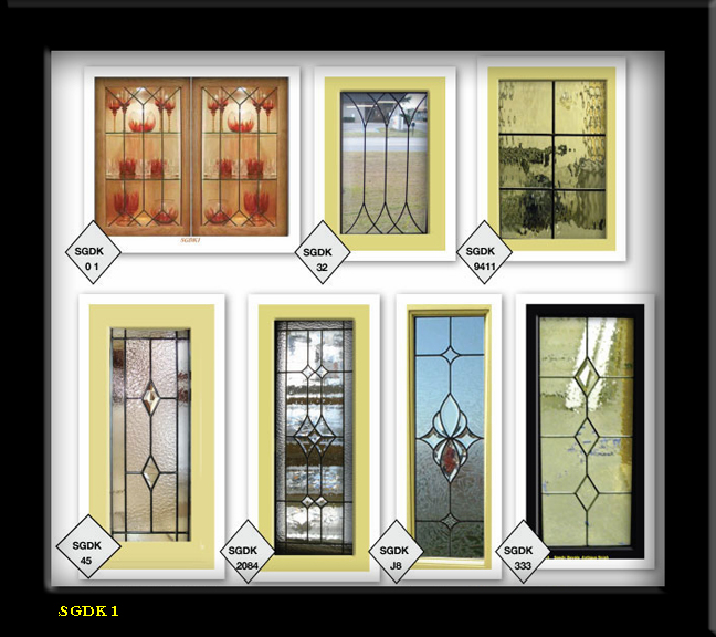 Lead Stain Glass Cabinet Door Inserts 1