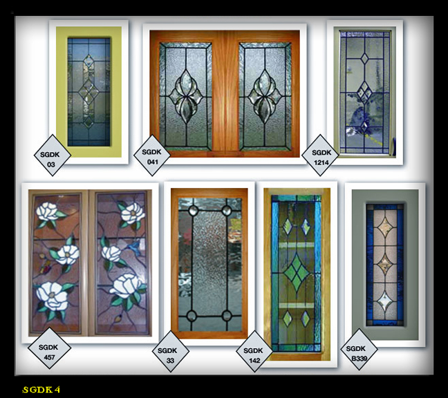 Glass Designs For Kitchen Doors: Lead & Stain Glass Cabinet Door Inserts 2